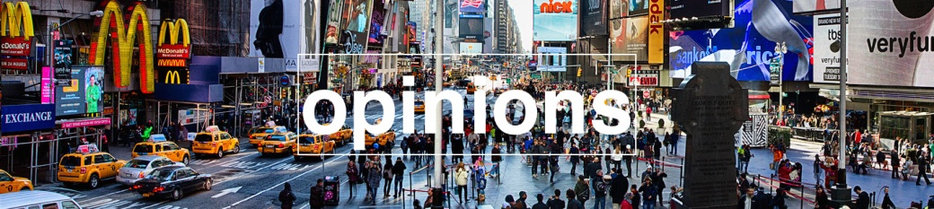 opinions banner